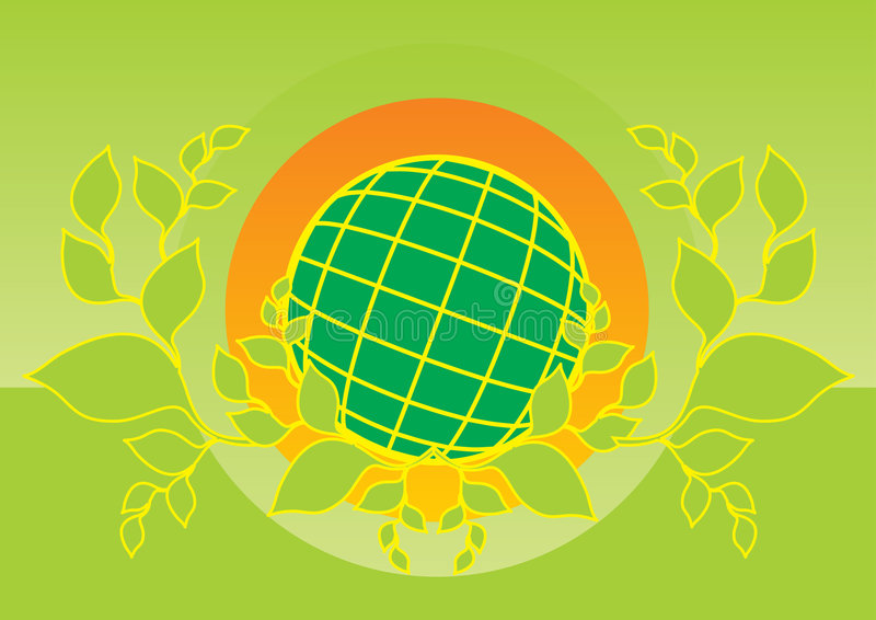 Earth logo. Green planet earth logo design