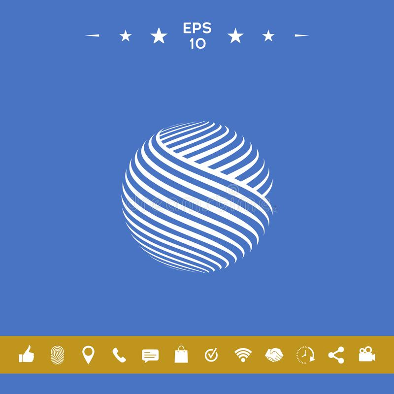 Earth logo design royalty free illustration
