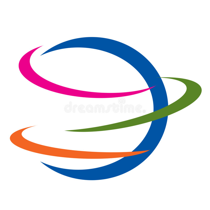 Earth logo icon. Four colours graphics design