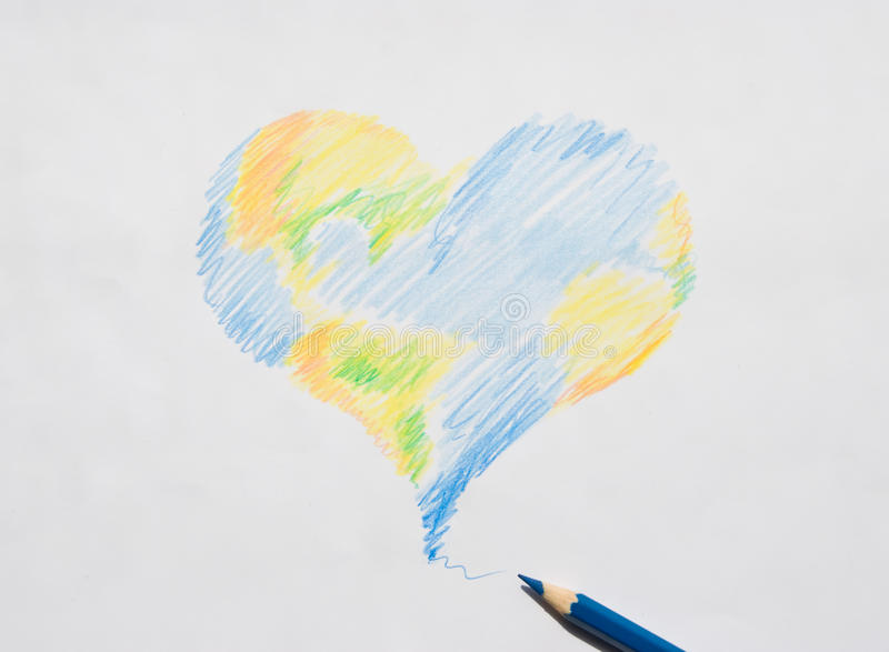 Earth of love royalty free stock photos
