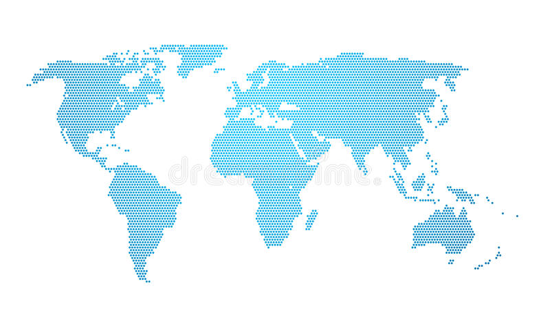 Earth map dotted vector illustration