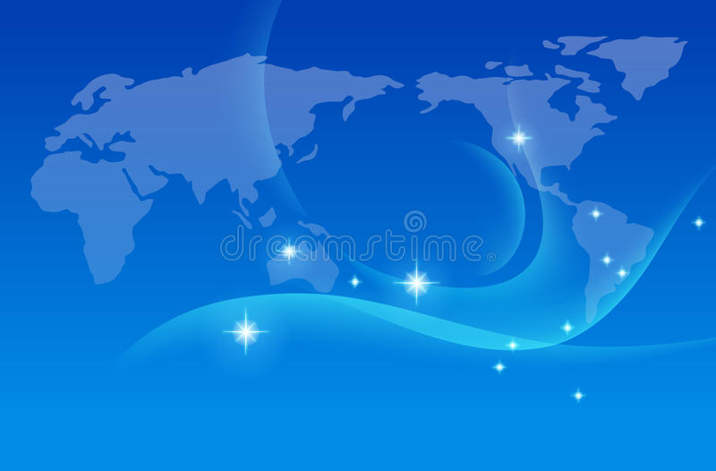 Earth map ,vector stock illustration