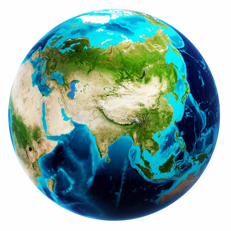 Earth map white isolated. Elements of this image furnished by NASA stock photography