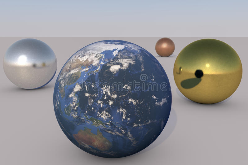 Earth and metals vector illustration