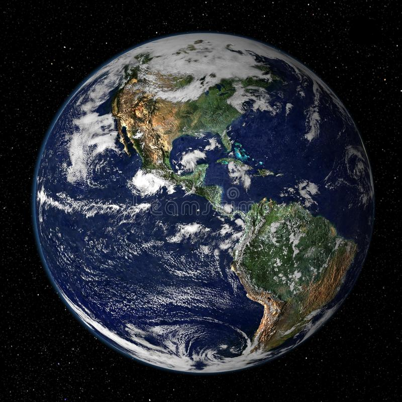 Earth Model - USA View royalty free stock images