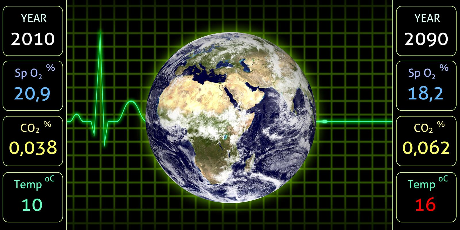 Download Earth Monitor Royalty Free Stock Image - Image: 14577886