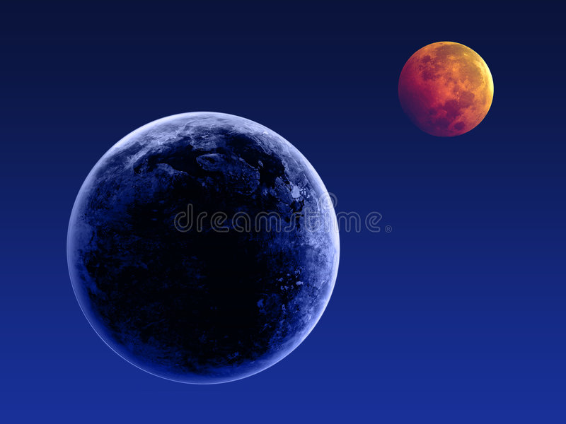 Earth and the moon royalty free stock images
