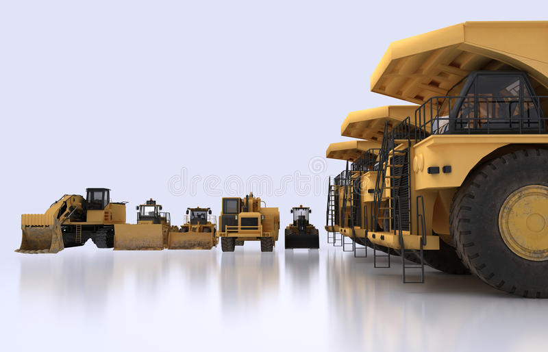Download Earth mover vehicles stock illustration. Image of tractor - 32058587