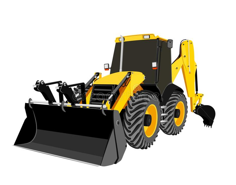 Earth-moving bulldozer royalty free stock images
