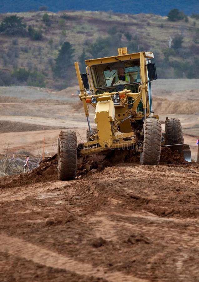 Earth Moving Equipment At Work Stock Photo