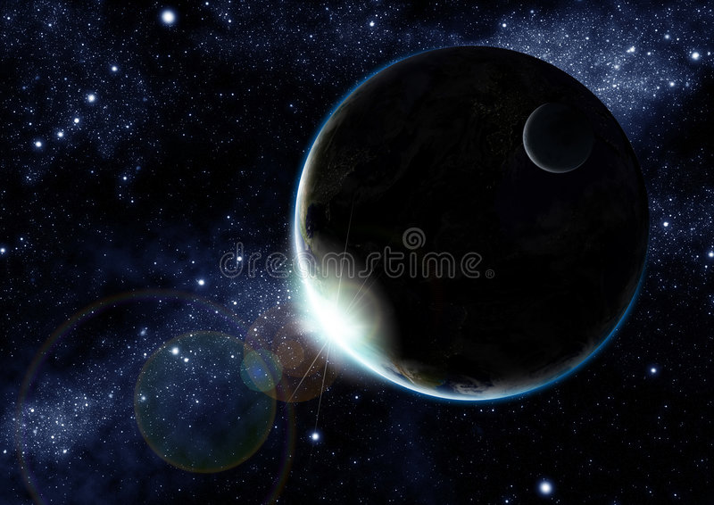 Earth at night royalty free stock images