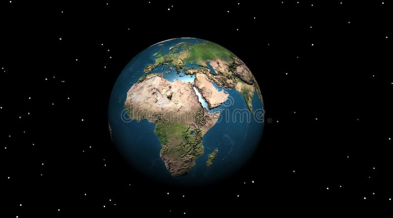 Earth in the night vector illustration