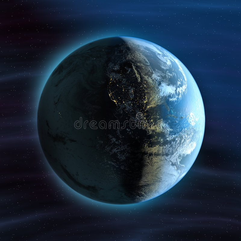 Download Earth (night America view) stock illustration. Image of night - 9070388