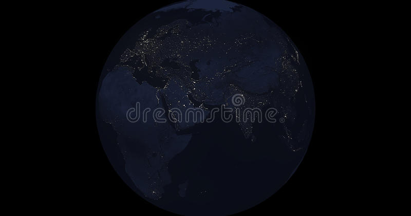 Earth At Night stock image
