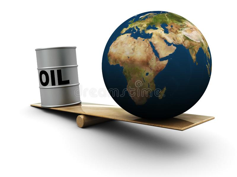Download Earth and oil stock illustration. Illustration of business - 7946076