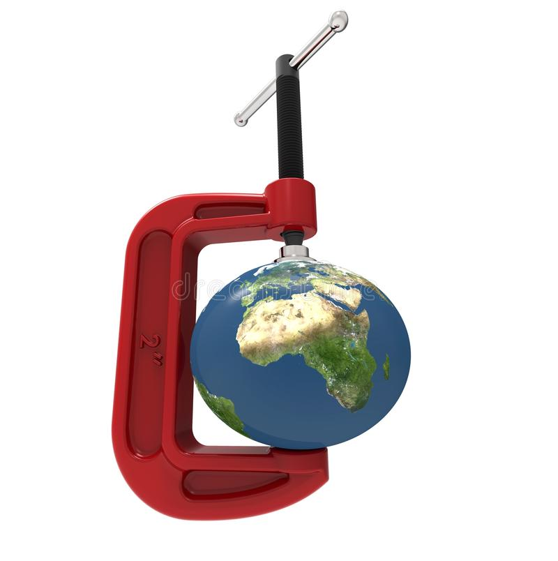 Earth onder pressure vector illustration
