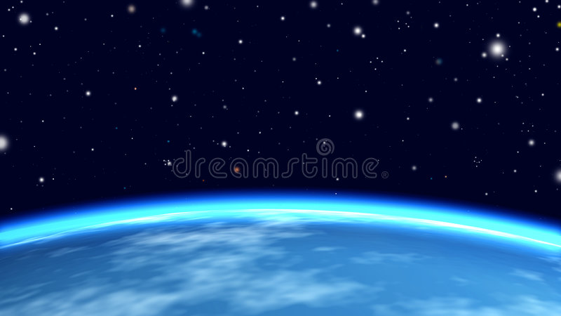 Download Earth from orbit stock illustration. Image of earth, illustration - 4071745