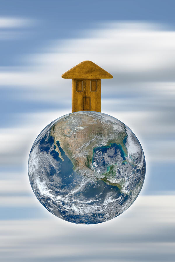 The Earth is our home - concept image royalty free illustration
