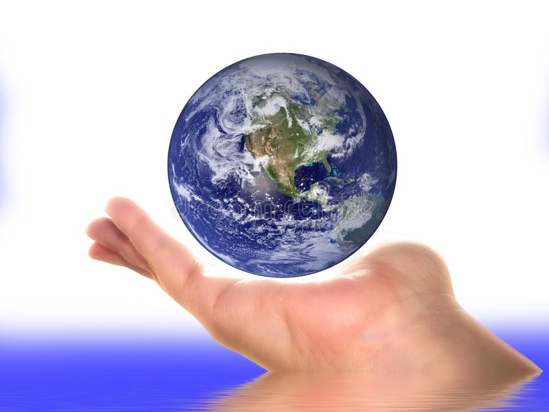 Earth On A Palm Free Stock Images