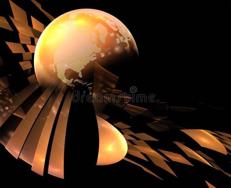 earth pealing 库存照片