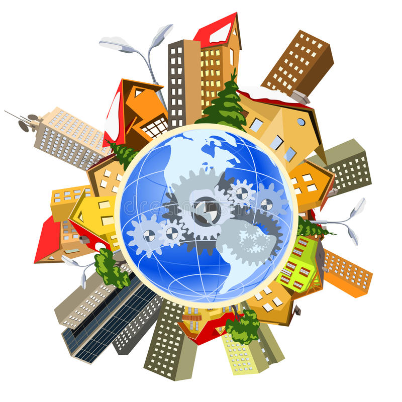 Download Earth Perfect Precise Machine Stock Vector - Image: 23765198