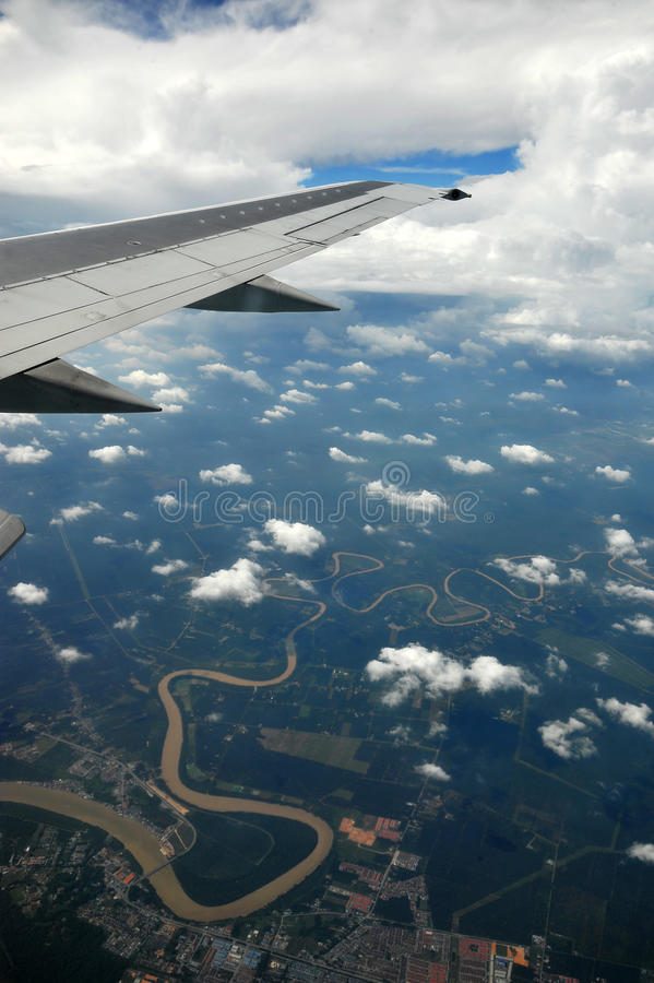 Download Earth and plane wing stock image. Image of technology - 20091681