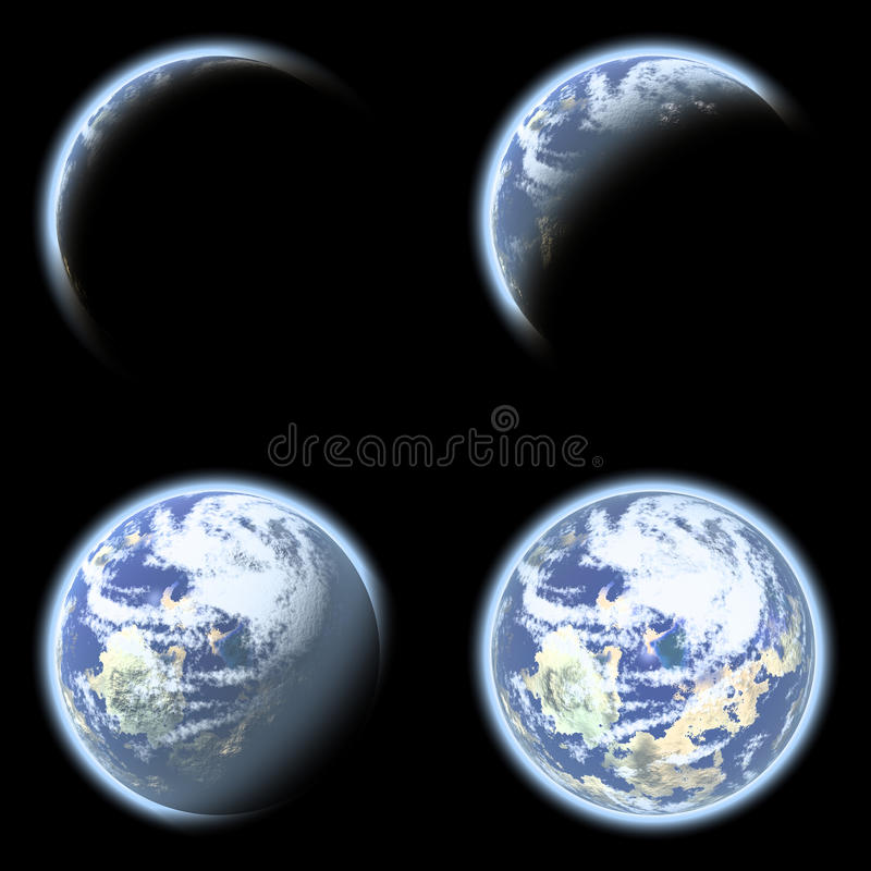 Earth planet collage royalty free stock image