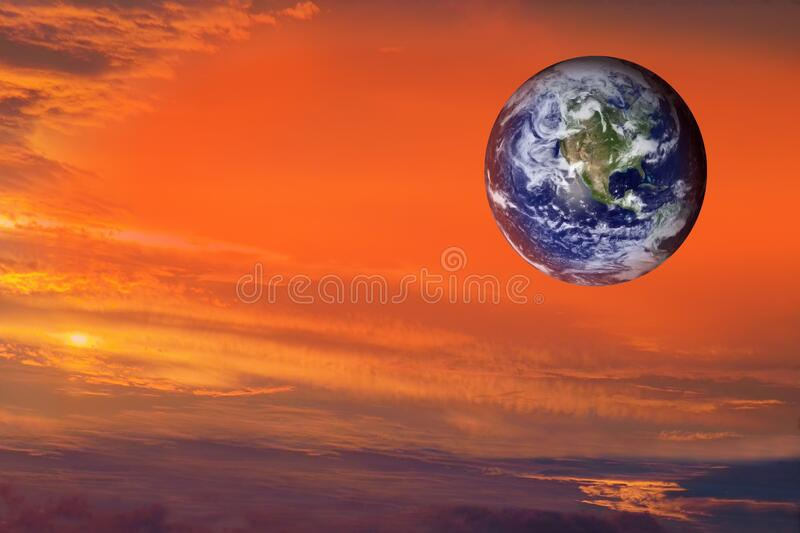 Earth planet on dramatic space background. Pandemic stock photography