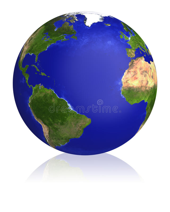 Earth planet globe map. stock illustration