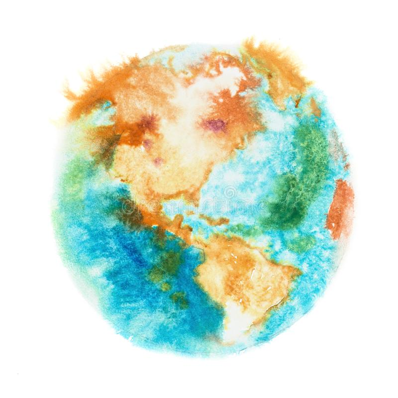 Earth planet. Globe. View of North and South America vector illustration