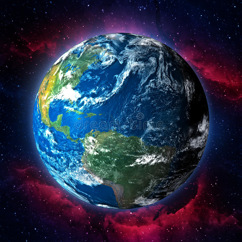Earth planet illustration stock image
