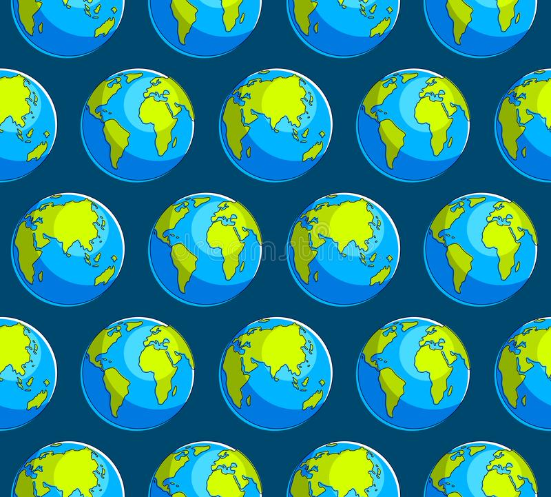 Earth planet seamless background, backdrop for ecological eco preservation website. Earth planet seamless background, backdrop for ecological eco preservation royalty free illustration