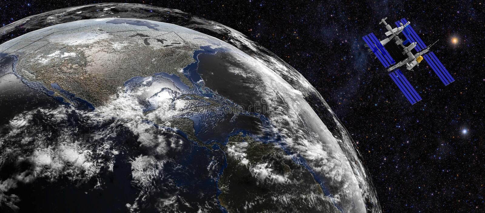 Earth Planet from space stock illustration
