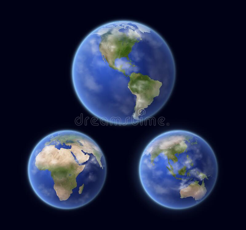 Free Earth Planet Surface, Space View Vector Royalty Free Stock Image - 215355806