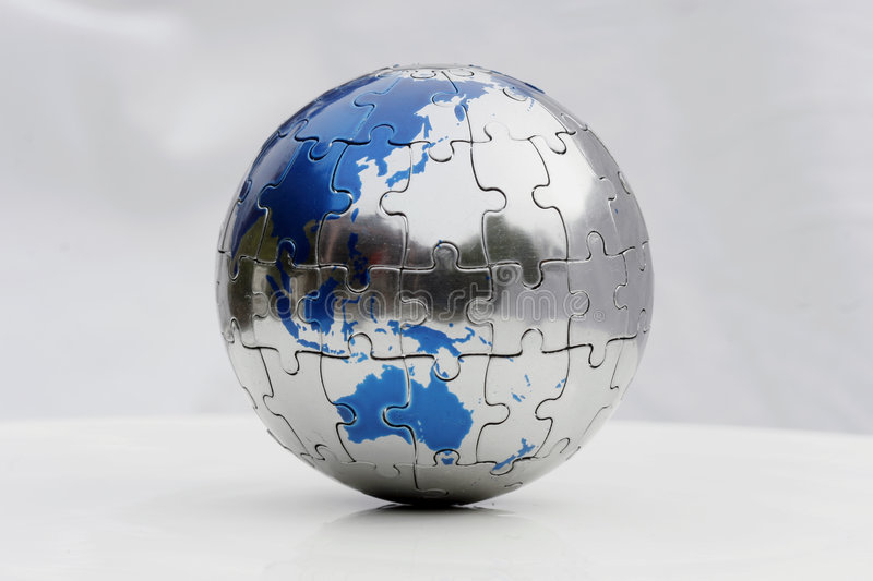 Earth Puzzle stock photo