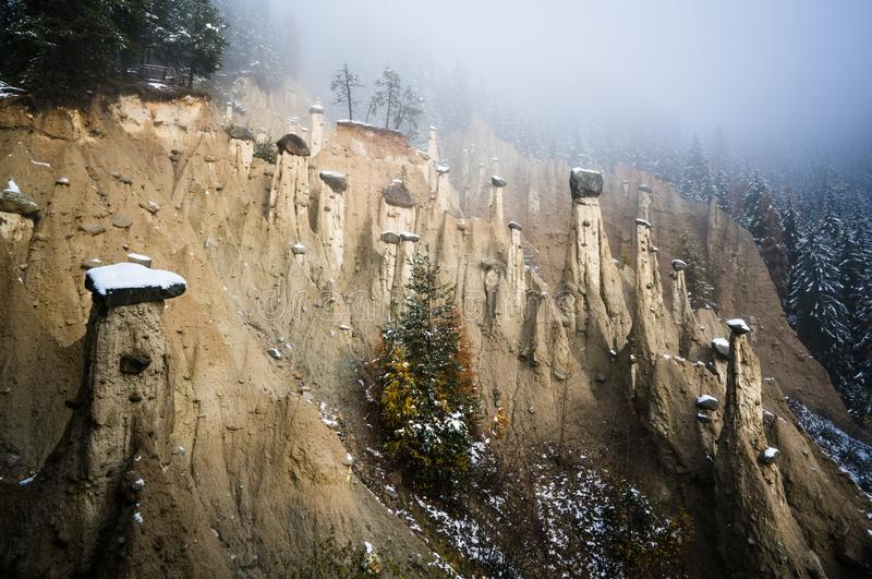 Earth Pyramids of Perca, South Tyrol, Italy royalty free stock photo