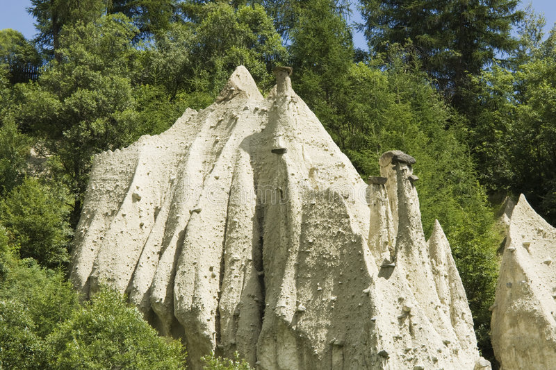 Earth Pyramids in Pusteria valley royalty free stock photo