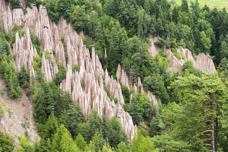 Earth pyramids, Renon - Bolzano royalty free stock images