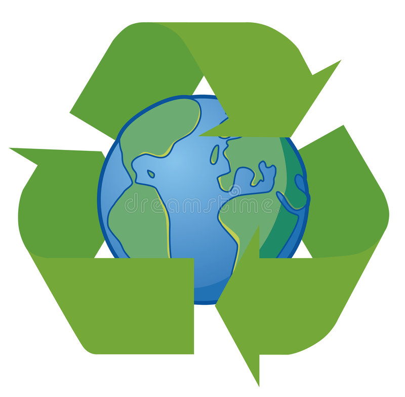 Earth recycle royalty free illustration