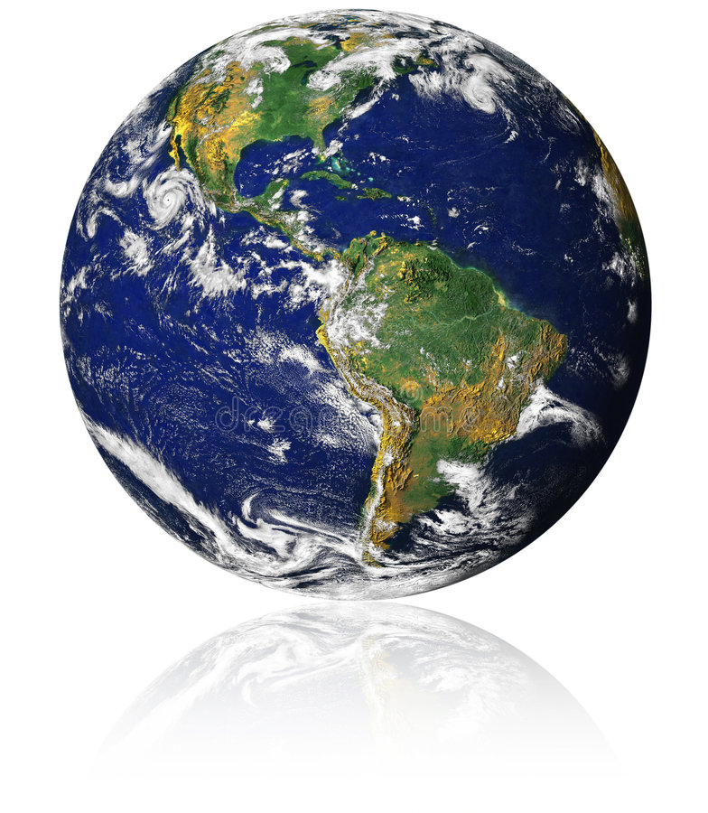 Earth with reflection royalty free stock photos