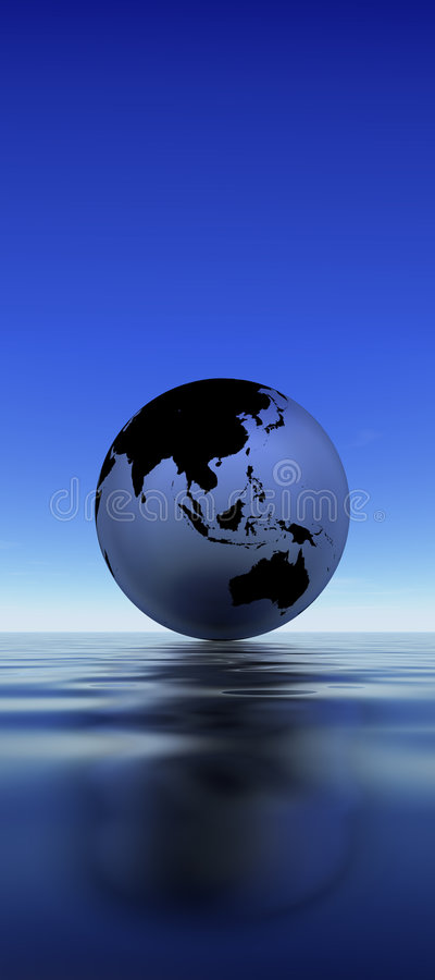 Earth Reflection On Water Royalty Free Stock Photo