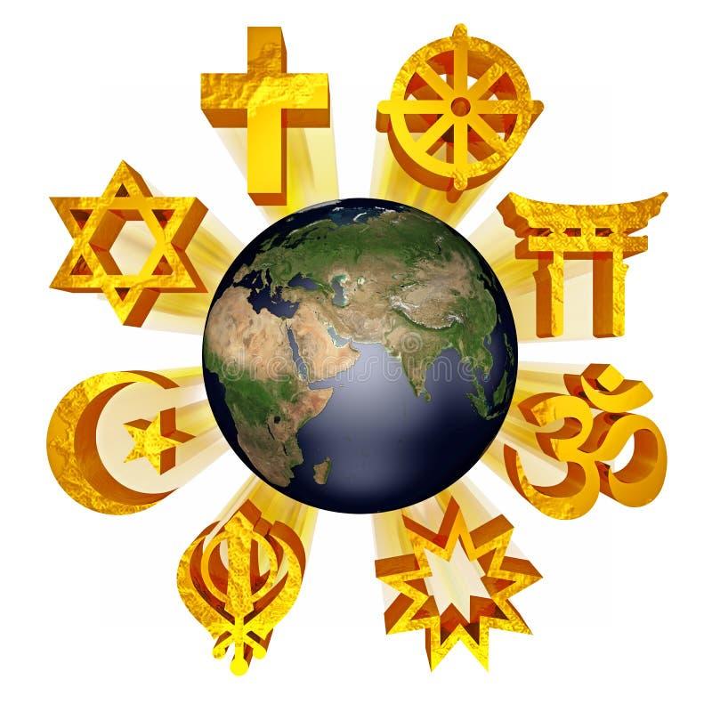Earth_religious_symbols Stock Photo