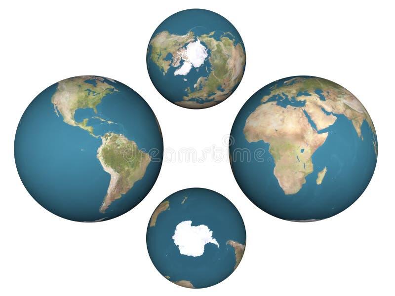 Earth's Hemispheres vector illustration