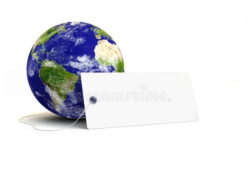 Download Earth With Sale Tag Royalty Free Stock Photo - Image: 9409745