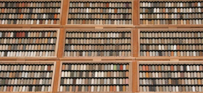 Earth science - soil diversity stock image