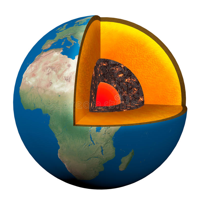 Earth section stock illustration