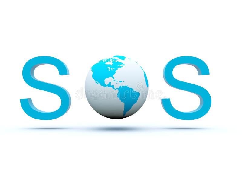 Earth send a SOS vector illustration