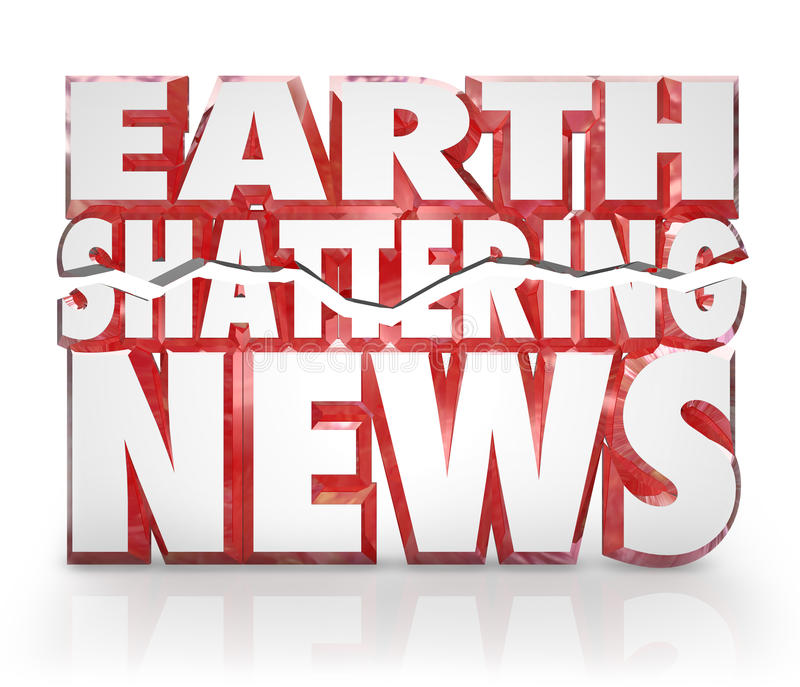 Download Earth Shattering News Urgent Information Update Stock Illustration - Image: 27636547