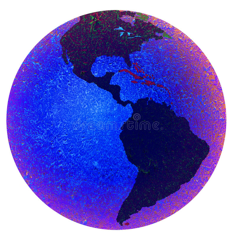 Earth Showing The Americas Stock Images