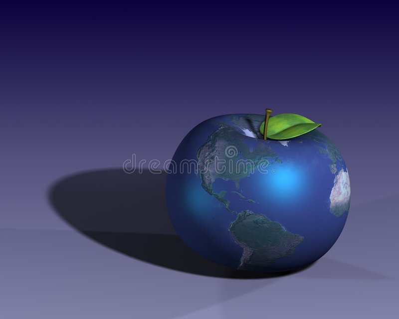 Earth shown as an apple royalty free stock photography